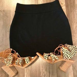 Black mini bodycon skirt from UO